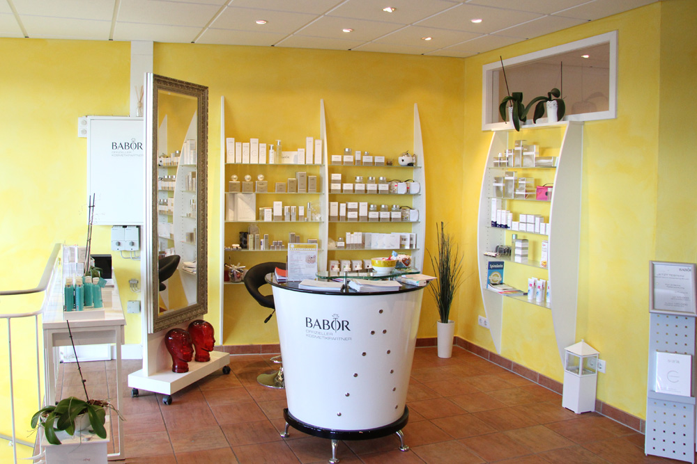 Empfangsbereich Kosmetikstudio